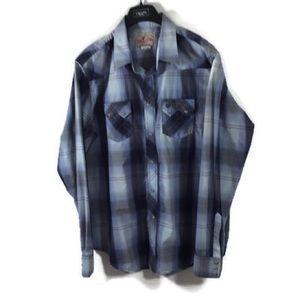 Wrangler Western Rockabilly Pearl Snap Shirt XLT